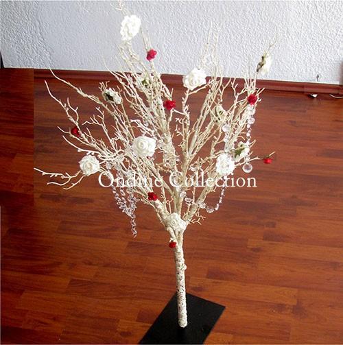 Árbol para centro de mesa bodas o bautizo.
