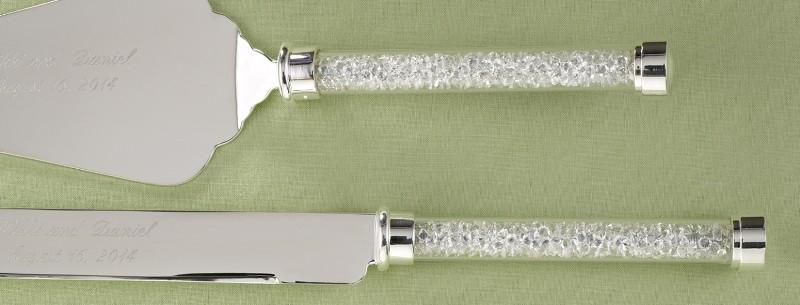 Set de pala y cuchillo Cristal Checo tipo Swaroski