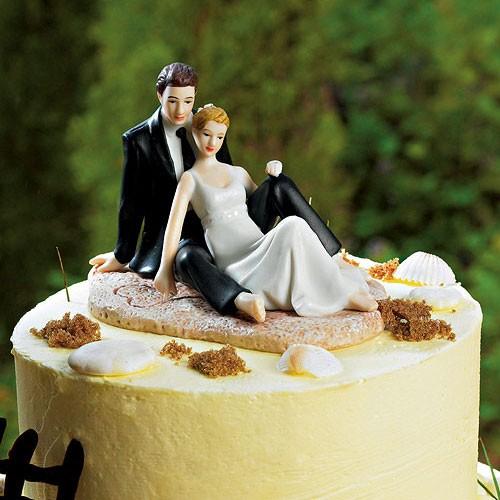 Figura para pastel Sobre la playa.