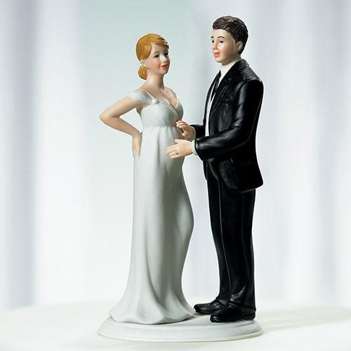 """PORC_017-. Figura para tu pastel """"Felizmente Embarazados"""""""