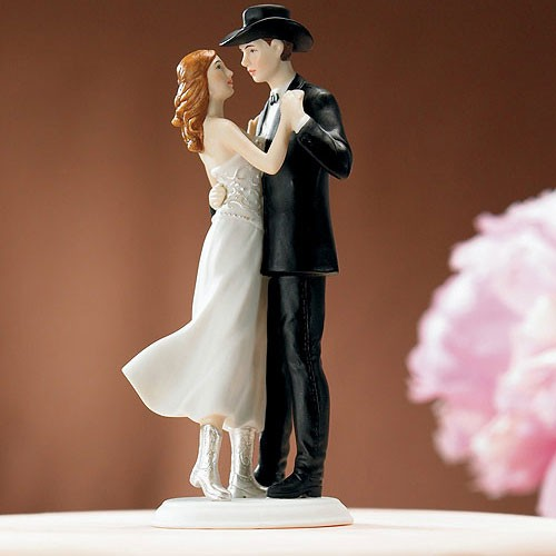 """PORC_008.- Figura de pastel """"Un norteño amor""""."""