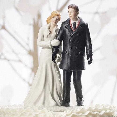 Figura de pastel para boda Invierno Maravilloso.