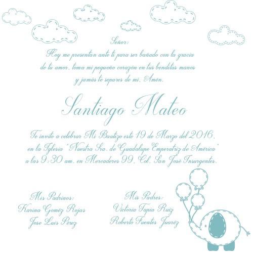 IMP003.- Impresión interior de invitación
