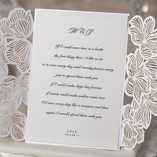 """IB1016.-Invitación para Boda """"Floral"""" en Láser."""