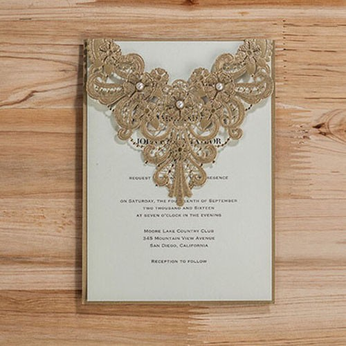 "IB1088.- Invitación ""Gilt Lovely """