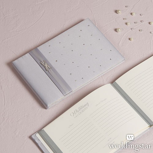 """Libro de firmas para boda """"Crystal Stone""""."""
