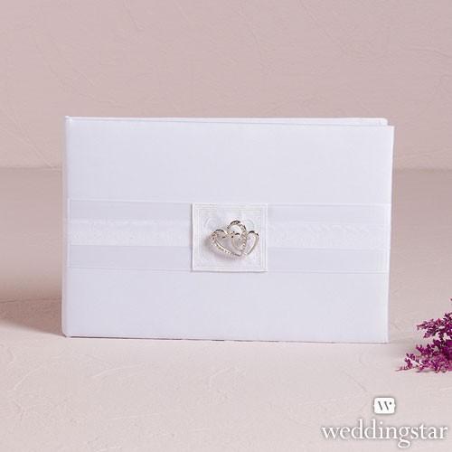 """Libro para firmas de boda """"Double heart"""""""