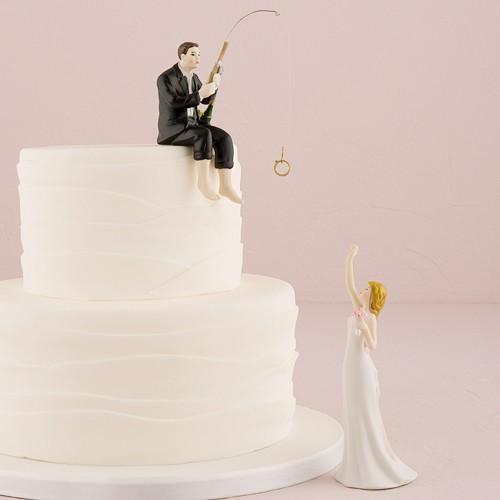 "PORC_021.-Figura para pastel de boda ""Love Fishing """