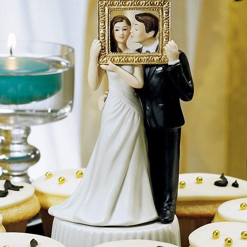 """PORC_001.-Muñecos para pastel de Boda """"La foto perfecta""""."""
