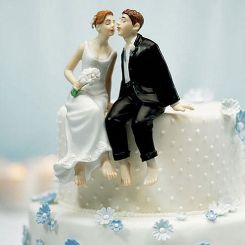 """PORC_031.-Muñecos de pastel """"Un suave beso""""."""