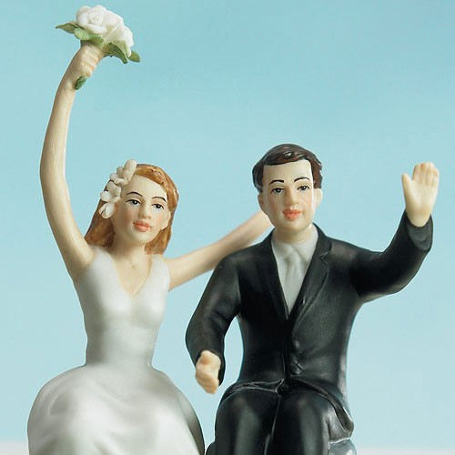 Figura de pastel Just Married.