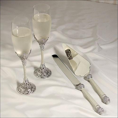 """Copas para boda y set de Palas para pastel """" Fifth Avenue"""""""