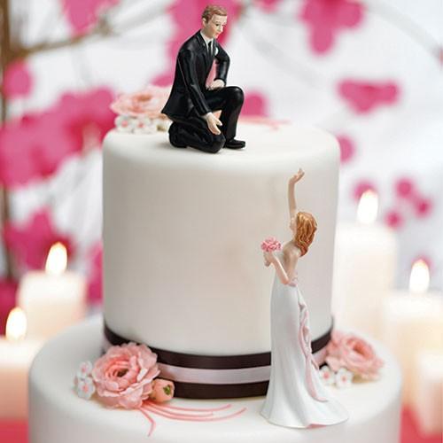"PORC_033.- Figura de pastel para boda "" Toma mi mano"""