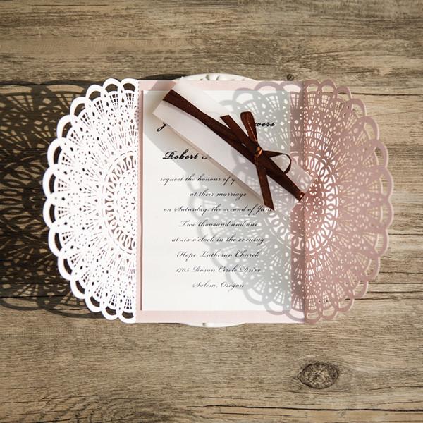 """Q018 - Invitación """"Ornamento"""" Rosa"""