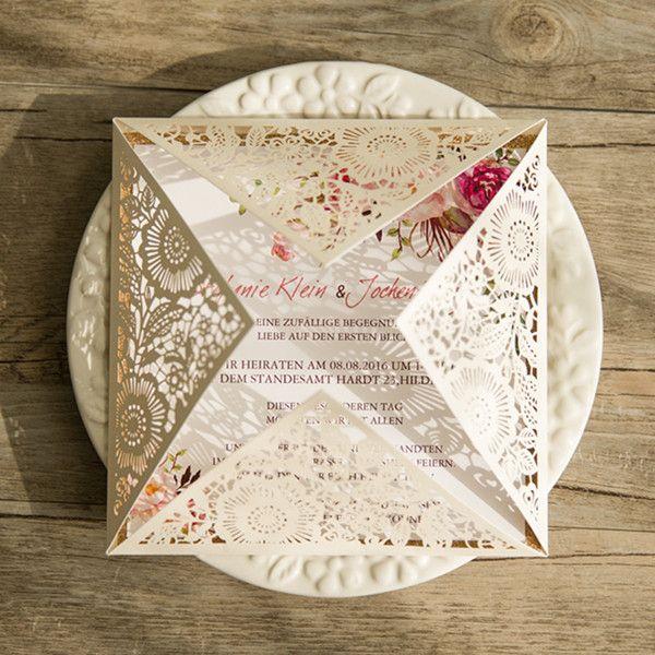 """Q012-1- Invitación """"Victorian  beige"""""""