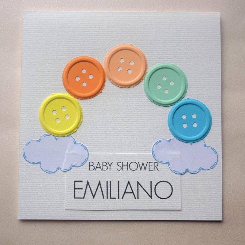 "Invitación para Baby Shower y Bautizo ""Colores"""