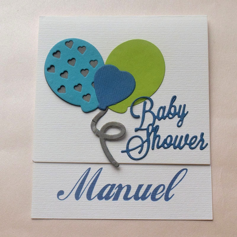 """Invitación para Baby Shower y Bautizo """"Fiesta"""""""