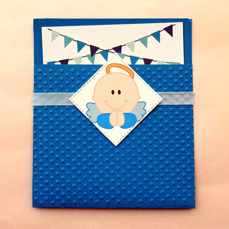 Invitación para Bautizo y Baby Shower Angelito