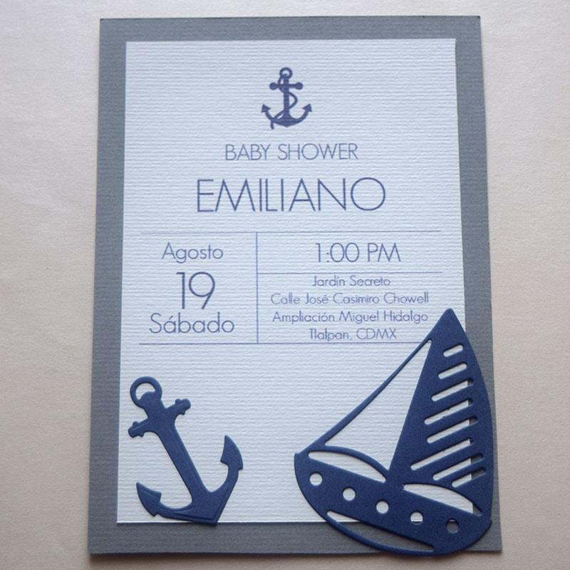 """Invitación para Bautizo y Baby Shower """"El Marinerito"""""""