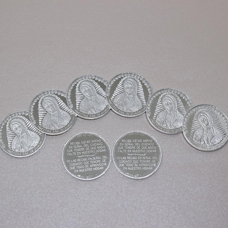 """Arras de Boda """"Virgen Busto"""" 17mmm plata .999"""