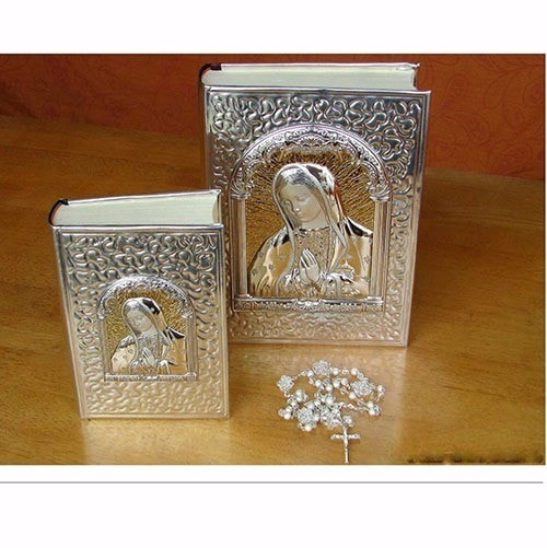 Biblia y rosario para Boda Virgen de Guadalupe Plata .925