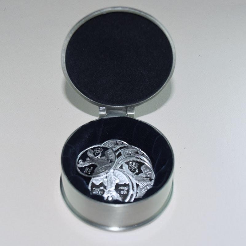 Estuche Oval rositas con Arras Centenario 21mm