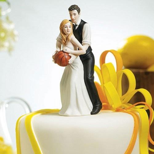 "PORC_060 Figura de pastel ""Love Basquetball"""