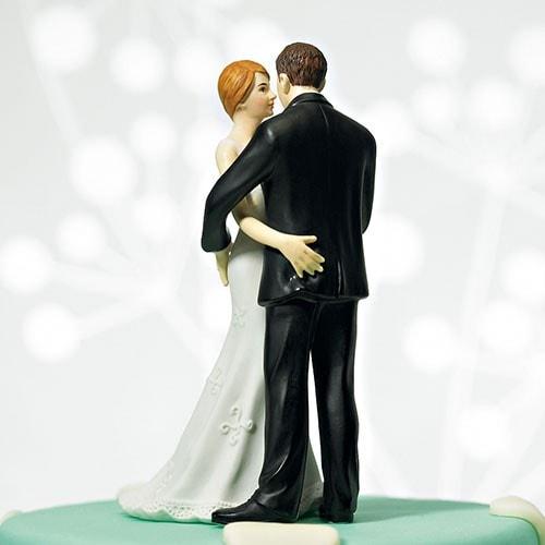 Figura de pastel Novios coquetos.