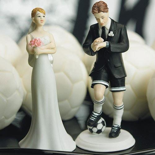 Muñecos de pastel Novio futbolero.