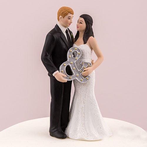 """PORC_067.-Muñecos para pastel de Boda """"Mr & Mrs"""""""