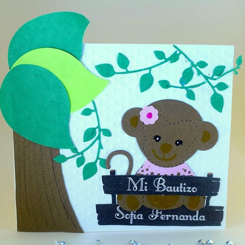 "Invitación para Bautizo y Baby shower ""Changuita"""