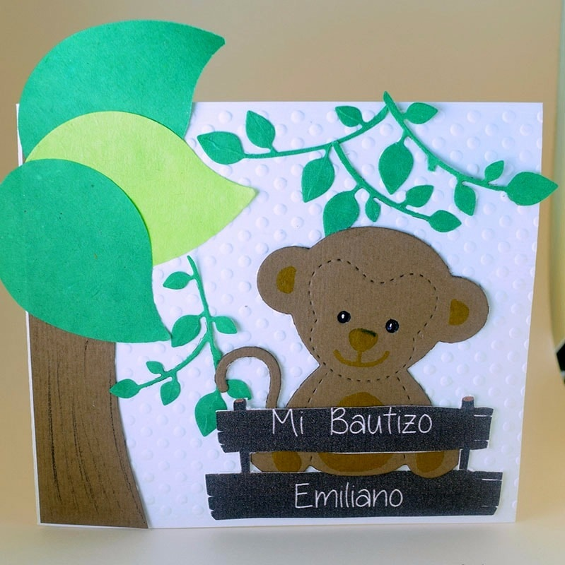 Invitación para Bautizo y Baby Shower Changuito