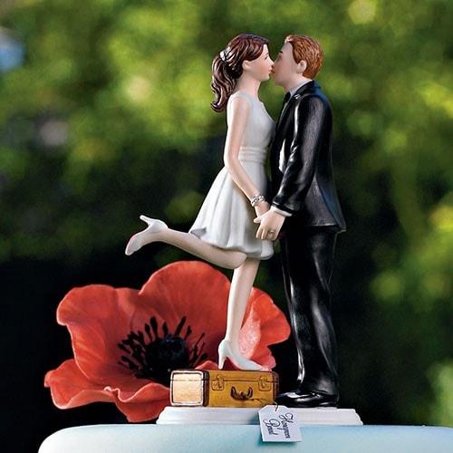 "PORC_051.-Figura de pastel boda civil ""Puedes besar a la novia"""