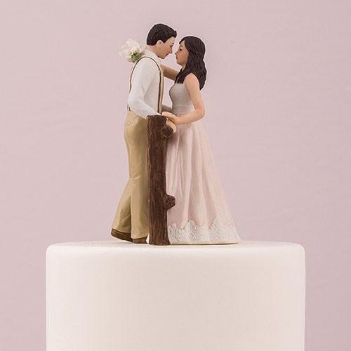 """PORC_066.-Muñecos para pastel de Boda """"Rustic Love"""""""