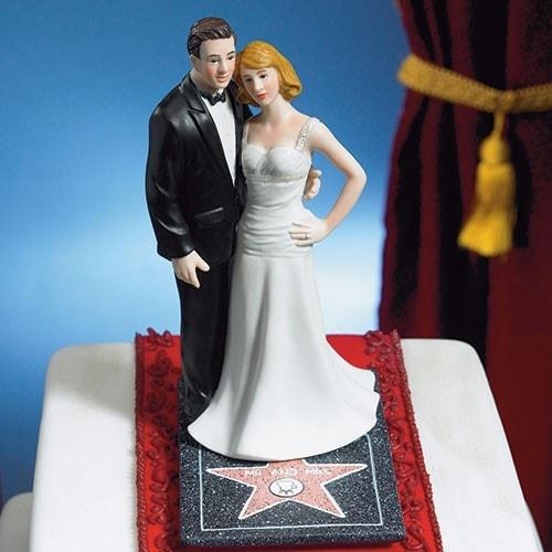 """PORC_041.- Muñecos para pastel elegantes """"Hollywood""""."""