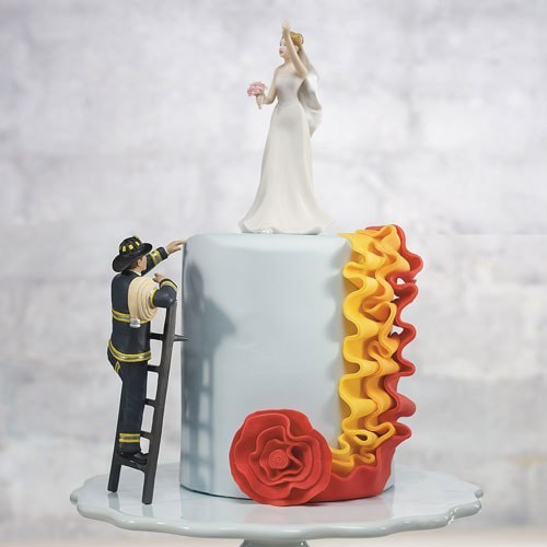 """PORC_061.- Muñecos para pastel  """"Bombero ¡Al rescate!"""""""