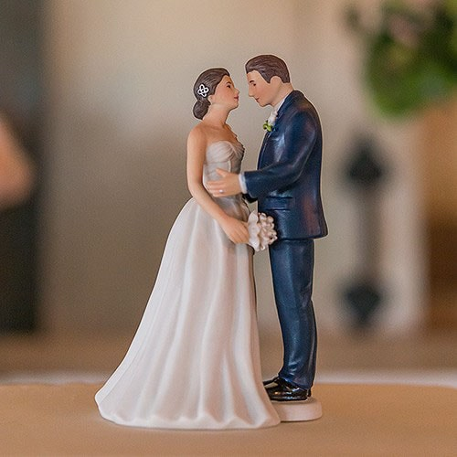 """PORC_059.-Muñecos para pastel románticos """"clásico azul"""""""