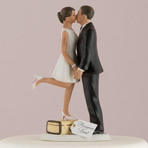 Muñecos para pastel Puedes besar a la novia morenitos