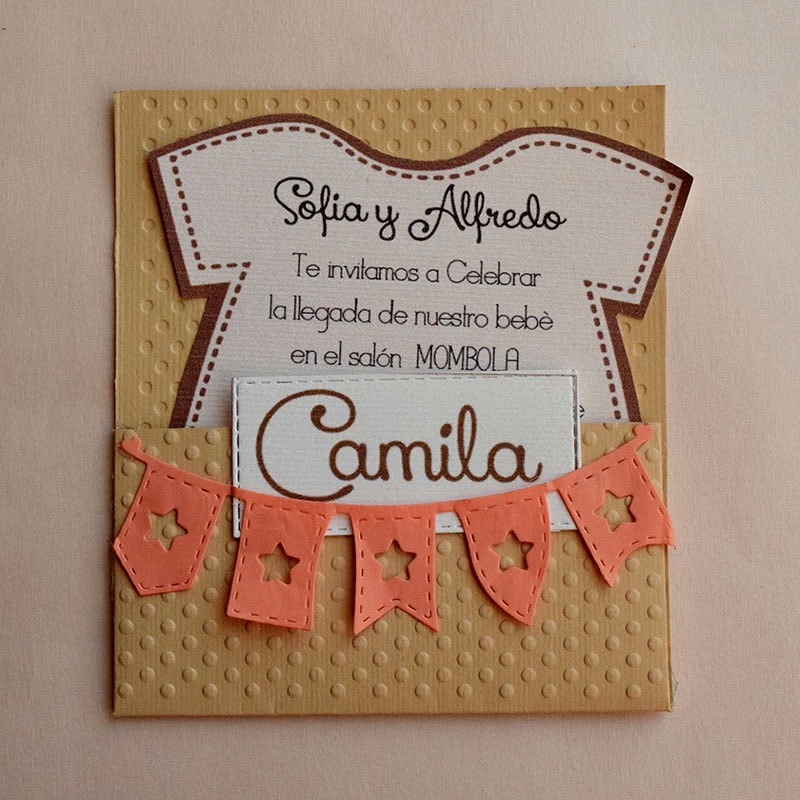 Invitación para Baby Shower Mameluco