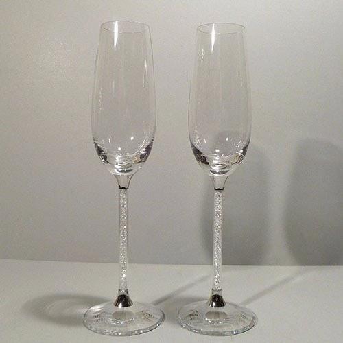 """Copas de boda """"Belle"""" Cristal facetado"""