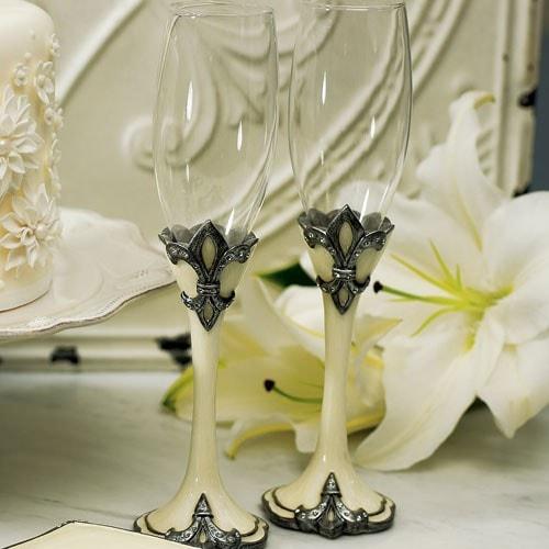 """Copas para boda """" Fleur de Lis""""."""