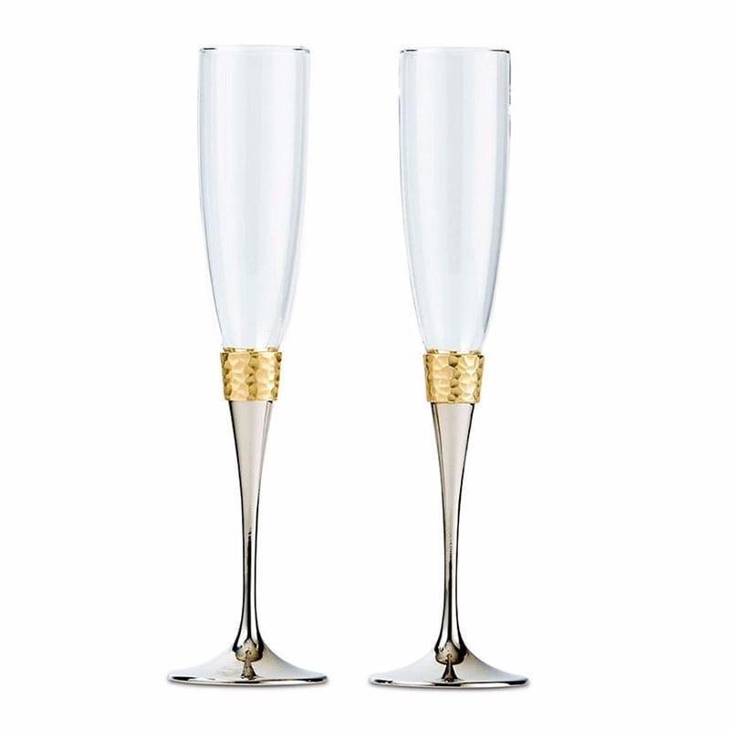 Copas de boda, en plata y oro