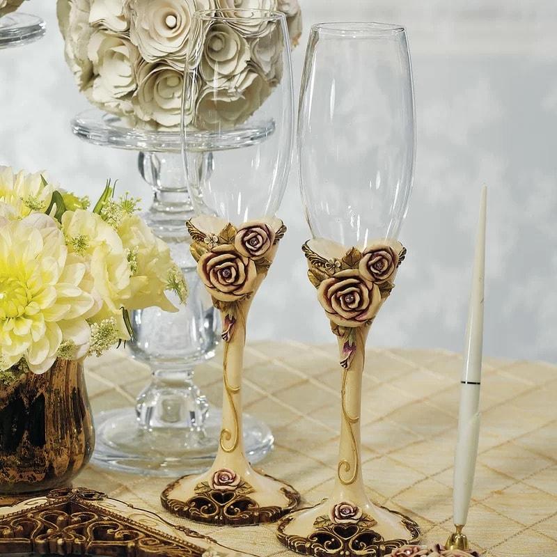 """Copas para boda """"Rose Vintage""""."""