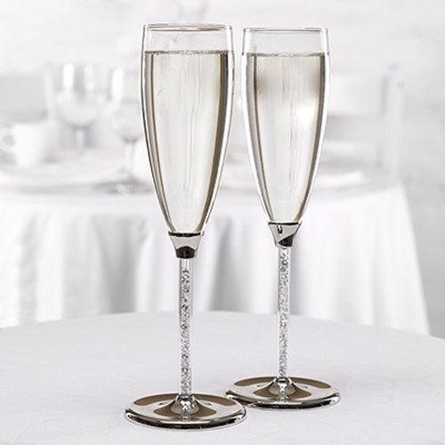 Copas de boda con cristal checo (tipo Swarovski)