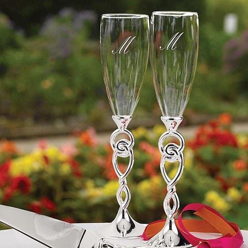 Copas de boda Nudos en plata