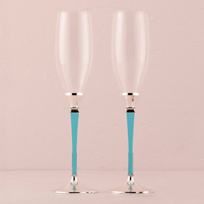 "Copas para boda ""Something Blue""."