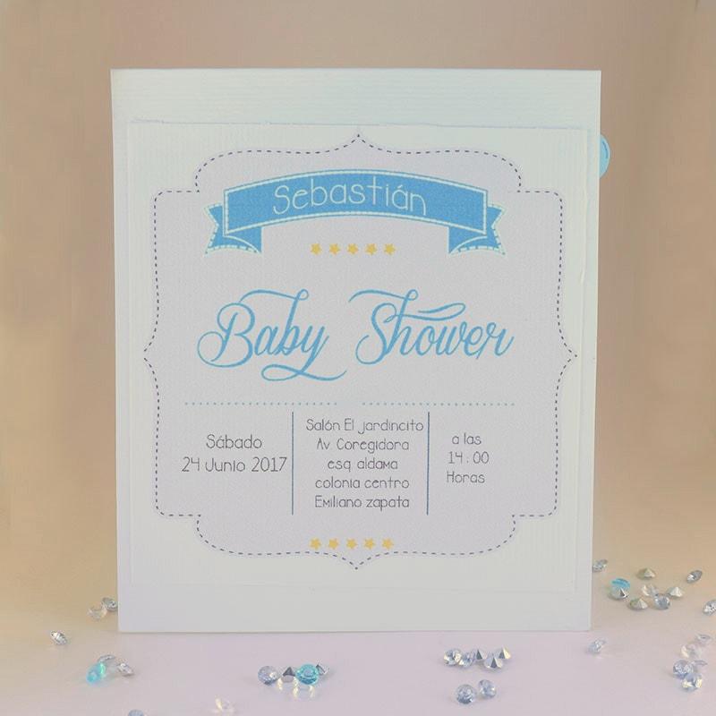 """Invitación para Baby Shower """"Up up"""""""