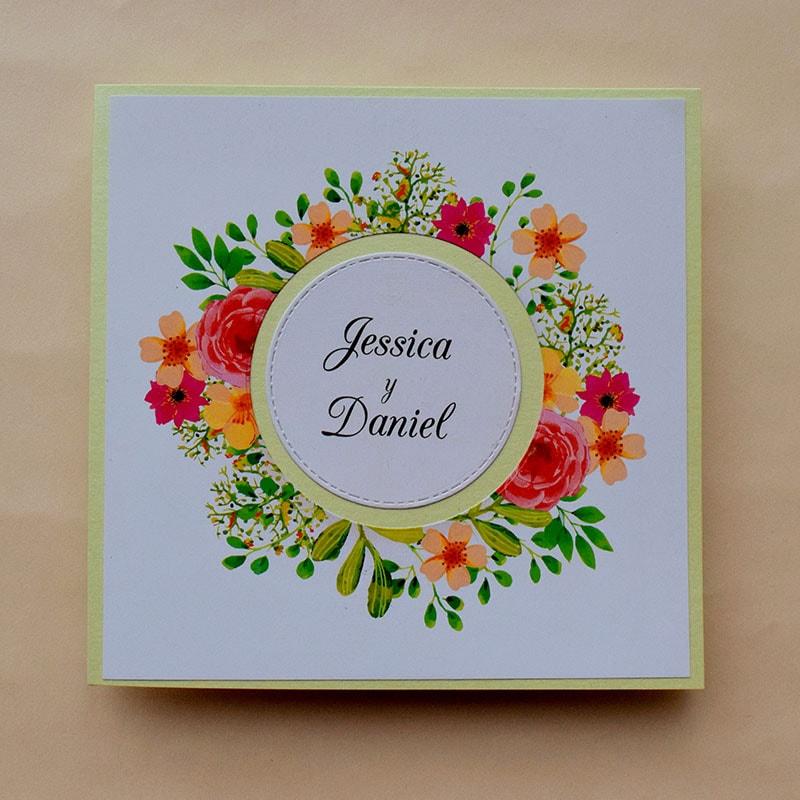 "Invitación para Boda ""Floral"""