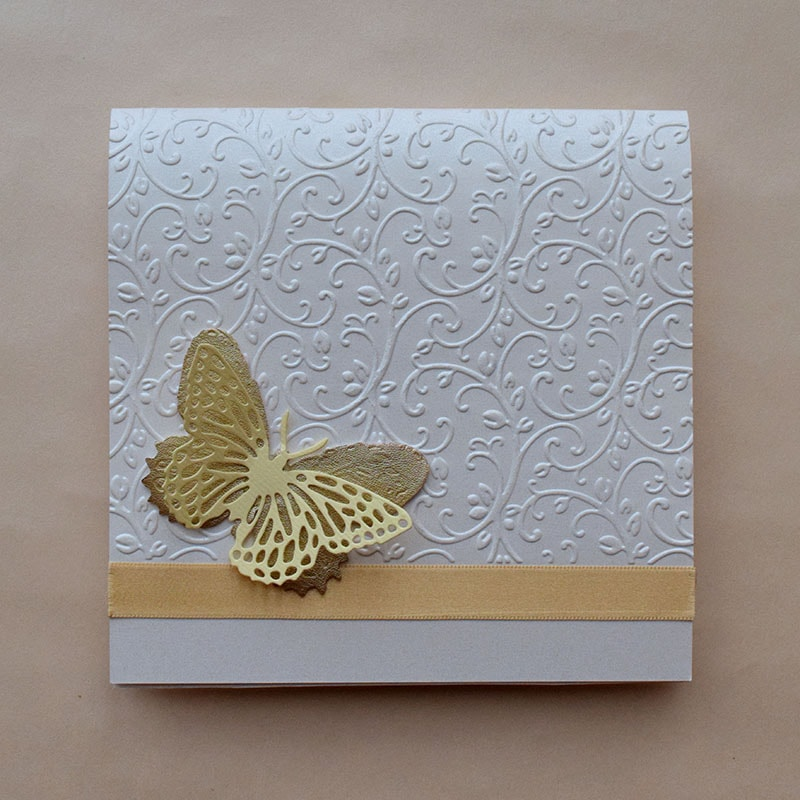 Invitación para Boda Mariposa Cristal