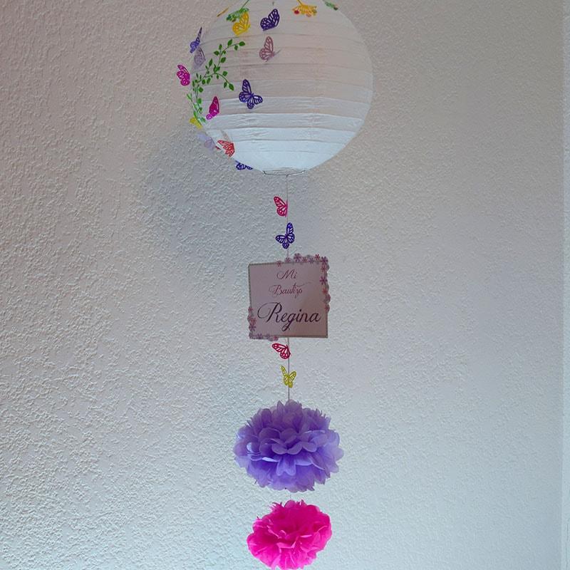 """Lámpara China decorada """"Mariposas"""""""